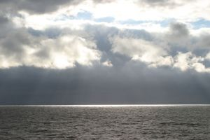 Breaking through the clouds, Northumberland Strait, PEI